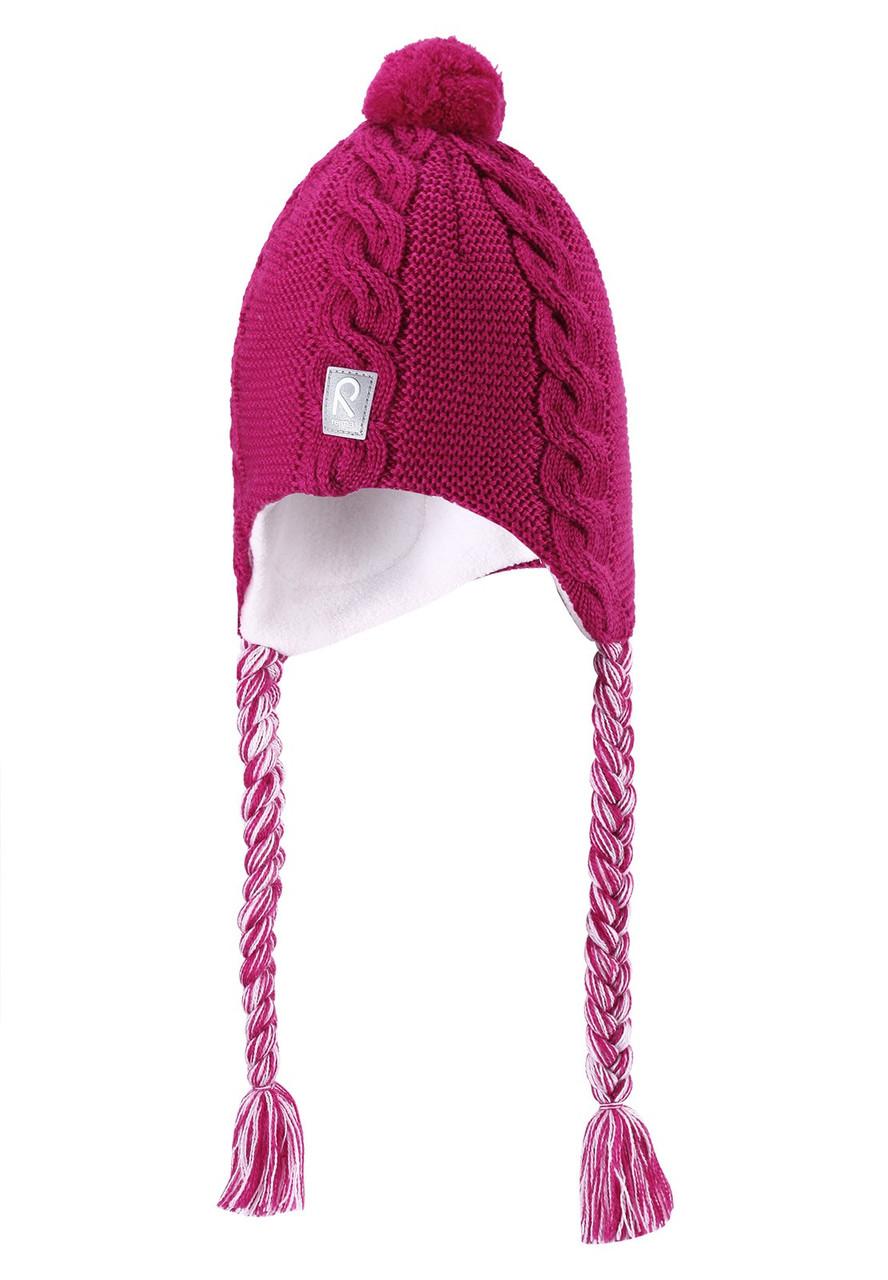 Шерстяная шапочка с косичками CAPELLA REIMA 46* (518239-3920)