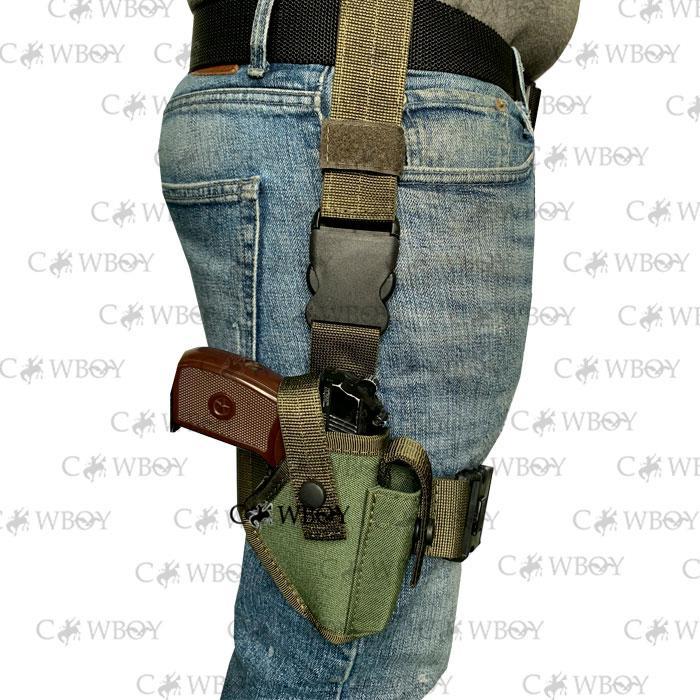 Кобура стегновий для пістолета ПМ, олива