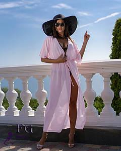Пляжная туника в пол  9 цветов 42-44, светло-розовый #A/S