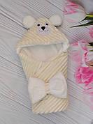"""Детский конверт на выписку Минки / зимний конверт-плед для новорожденных """"Мишка"""""""