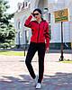 Осенний молодежный женский спортивный костюм на змейке с капюшоном, рукава реглан, фото 6