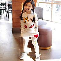 Спортивный костюм для девочек белый 7713