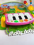 Развивающий коврик-пианино PA318 аналог Fisher Price, Розовый, фото 2