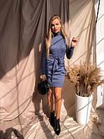 Теплое платье-гольф с карманами, фото 1