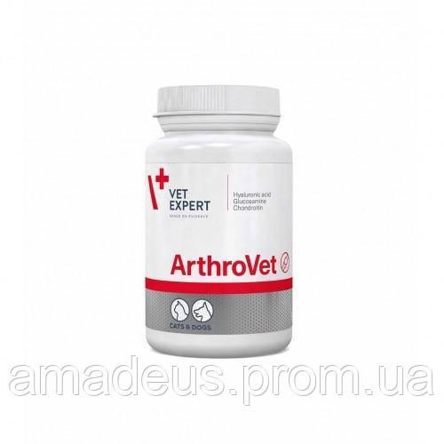 АртроВет (60 таблеток) поддерживающий и защищающий суставы собак и кошек (глюкозамин, хондроитин, гиалуроновую кислоту)