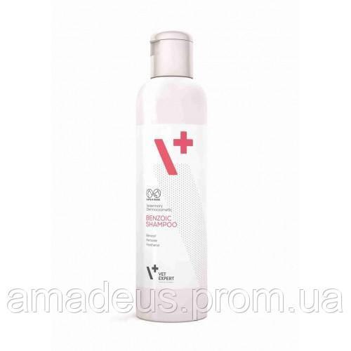 Benzoic Shampoo Бензойный шампунь для животных с жирной кожей и шерстью, 250 мл