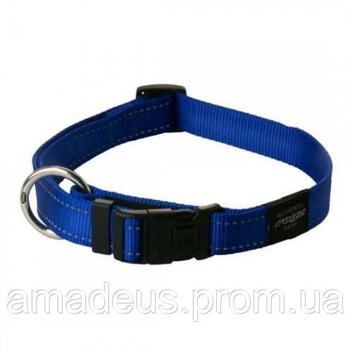 Ошейник для собак Utility, со светоотражающими нитками, M, 26-40 голубой