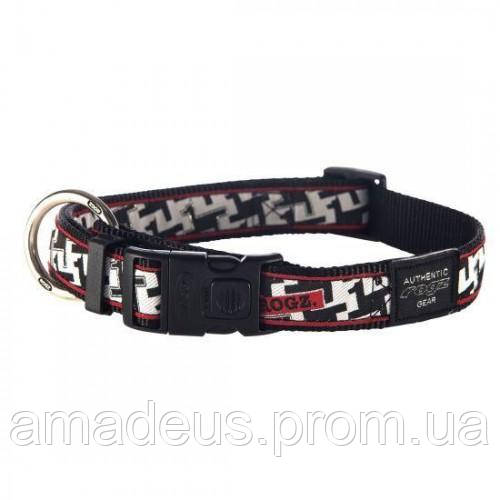 Ошейник для собак фенси XXL.50-80 принт чёрно-белый