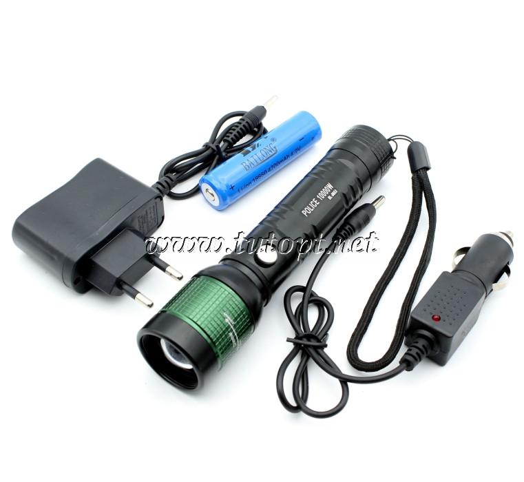 Фонарь Police Bailong BL-8653/ 18650/ЗУ сеть + авто/ Zoom/XPE/
