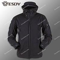 Тактическая куртка Демисезонная ESDY SoftShell Ranger Black