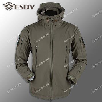 Тактическая куртка Демисезонная ESDY SoftShell Ranger Olive