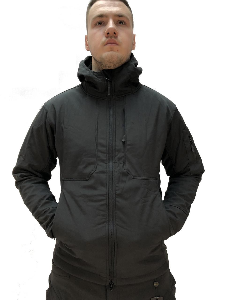 Тактическая куртка Демисезонная ESDY SoftShell Urban Black