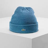 Теплая шапка LACOSTE (ориг.бирка) голубой