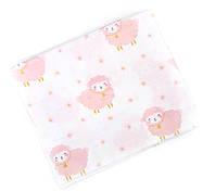 Пеленка муслиновая 100х120 см Розовые овечки