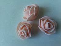Розочки латексные персиковые