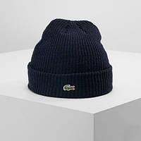 Теплая шапка LACOSTE (ориг.бирка) темно-синий