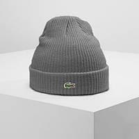 Теплая шапка LACOSTE (ориг.бирка) серый