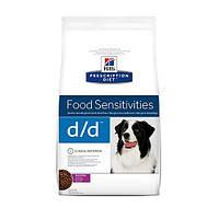Сухой корм Hills Prescription Diet Canine d/d Food Sensitivities для собак, утка и рис, 2 кг