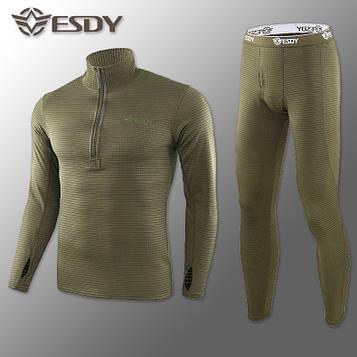 Термобелье Мужское Флисовое ESDY Pro Olive