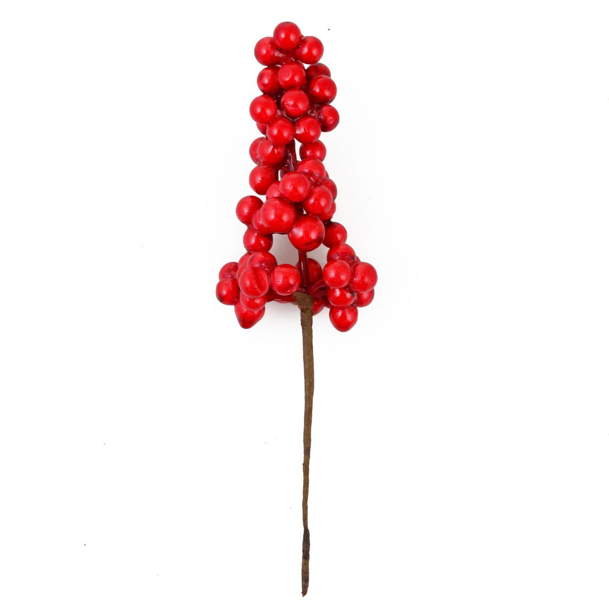 Гілка Yes! Fun з червоними ягодами, 15 см