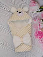 """Детский конверт на выписку Минки / зимний конверт-плед для новорожденных """"Мишка"""", фото 3"""