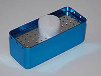 Стерилизатор (бокс, эндо-бокс) для боров и эндо-файлов (средний) 72 отверстий, синий