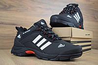Кроссовки зимние Adidas Climaproof мужские, черные, в стиле Адидас Климапруф, нубук, мех код OD-3380