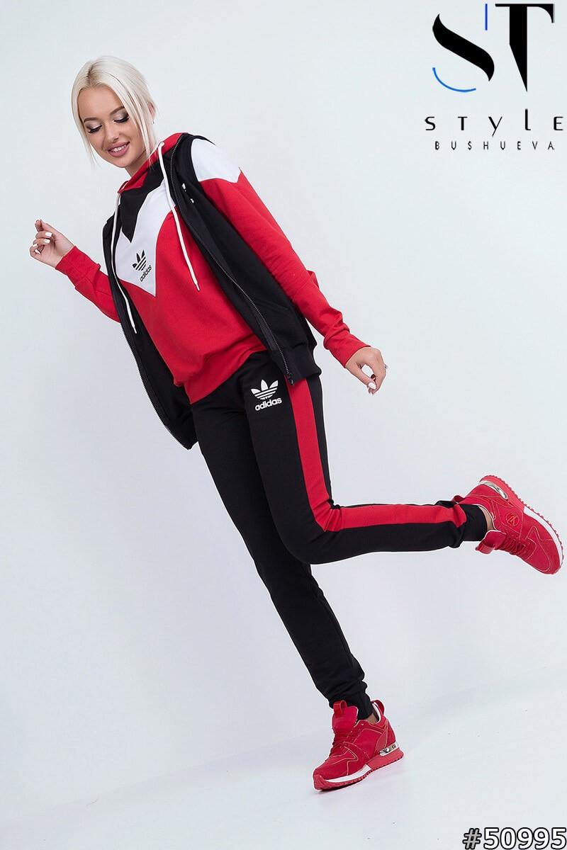 Осінній молодіжний жіночий спортивний костюм трійка з капюшоном, репліка Адідас