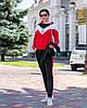 Осінній молодіжний жіночий спортивний костюм трійка з капюшоном, репліка Адідас, фото 10