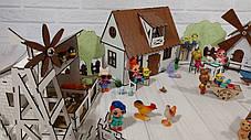 Домик для кукол LOL 2204 Сельский домик с мебелью, текстилем, светом, фермой и мельницей, фото 2