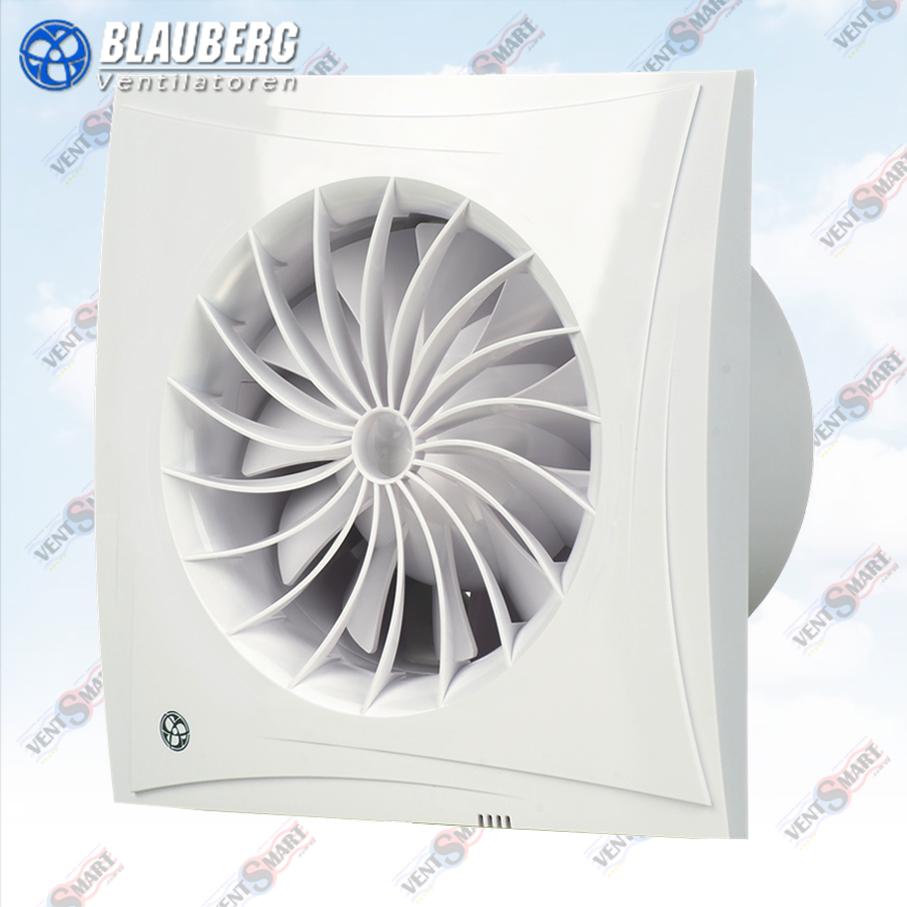 Внешний вид бесшумных вентиляторов для ванной с малым энергопотреблением и высокой производительностью Блауберг Сайлео 100 Н.