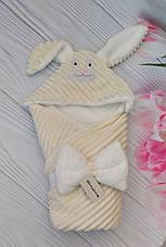"""Детский конверт на выписку с капюшоном Минки / зимний конверт-плед для новорожденных """"Зайка"""", фото 2"""