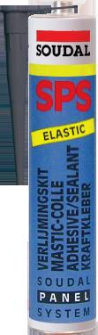 Клей-герметик для фасадных работ SPS Soudabond черный 600мл., SOUDAL Бельгия  [000020000000086601]