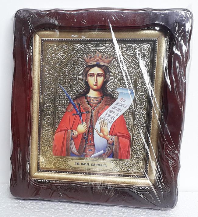 Икона святая мученица Варвара 35х30см