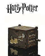"""Музыкальная Шкатулка """"Harry Potter - Гарри Поттер"""" (Бразильский Орех реверс GOLD)"""