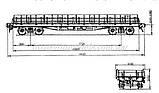 Платформа универсальная 4-осная с наращенными бортами модели 13-4012,СЖД  H0, 1/87, фото 7