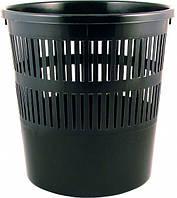 Корзина для бумаги пластиковая, черная D4007-01