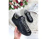 Кожаные  кеды Valentino, фото 1