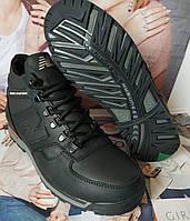 Мужские зимние кожаные спортивные ботинки New Balance Winter чёрная кожа, фото 1