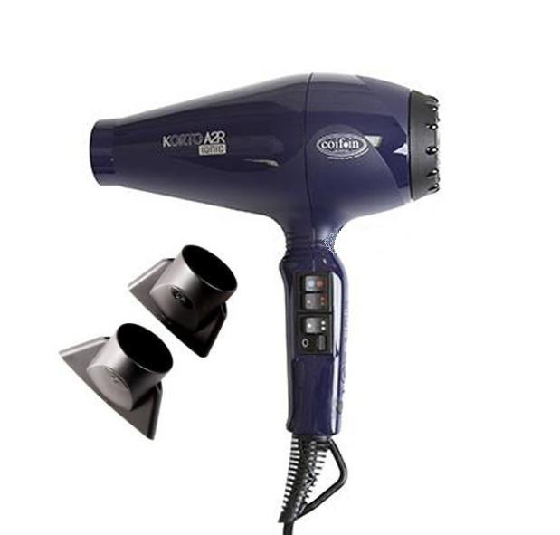 Фен для волос профессиональный Coifin A2R-ion-син Korto, 2200-2400 Вт