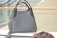 Женская сумка кожаная серая 6503, фото 1
