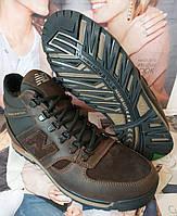 New Balance Winter! Мужские зимние кожаные коричневые полуспортивные ботинки Nb, фото 1