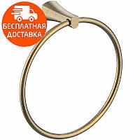 Полотенцедержатель кольцо Imprese Cuthna 130280 ANTIQUA бронза, фото 1