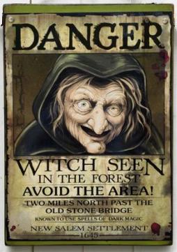 Объявление о розыске ведьмы (постер)