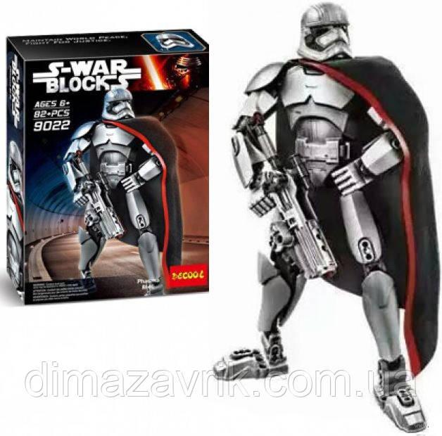 """Конструктор Decool 9022 (Аналог Lego Star Wars 75118) Звездные Войны """"Капитан Фазма"""" 82 детали"""