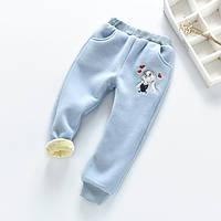 Штаны детские утепленные Bunny голубые, фото 1