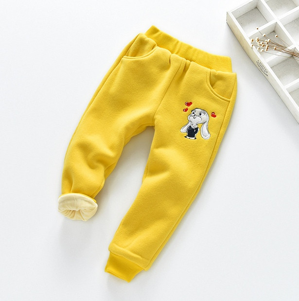 Штаны детские утепленные Bunny желтые