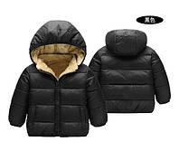 Куртка детская деми на меху черная