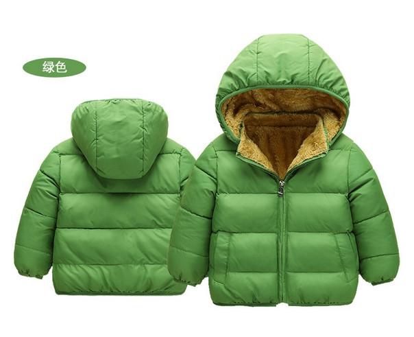 Куртка детская деми на меху зеленая
