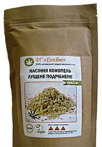 Екосвіт Органічні насіння конопель, очищені, подрібнені 5000 м